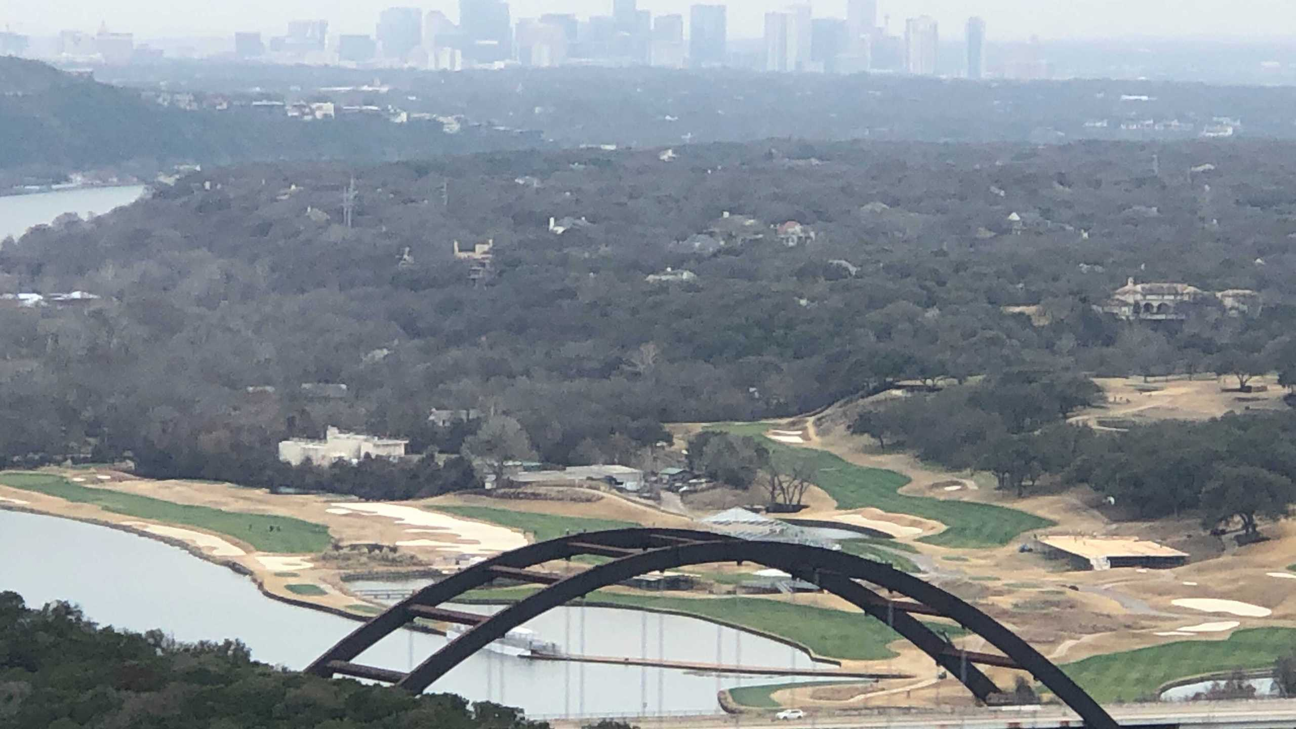 View of downtown Austin covered in mist/fog (KXAN/Frank Martinez)