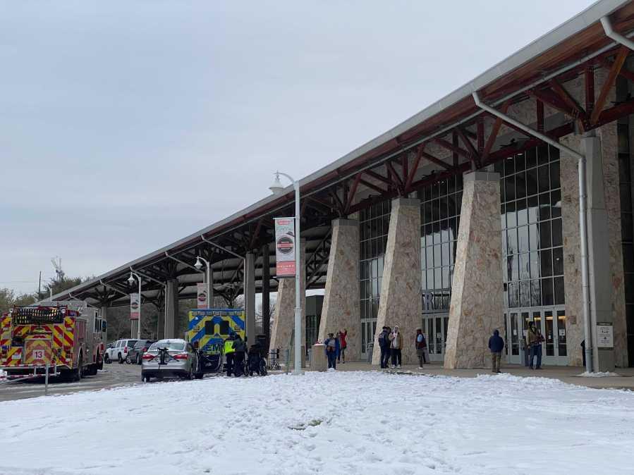 The Palmer Events Center serving as a warming center Feb. 16, 2021 (KXAN Photo/Todd Bailey)