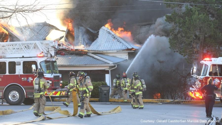 San Marcos Lindsey Street house fire