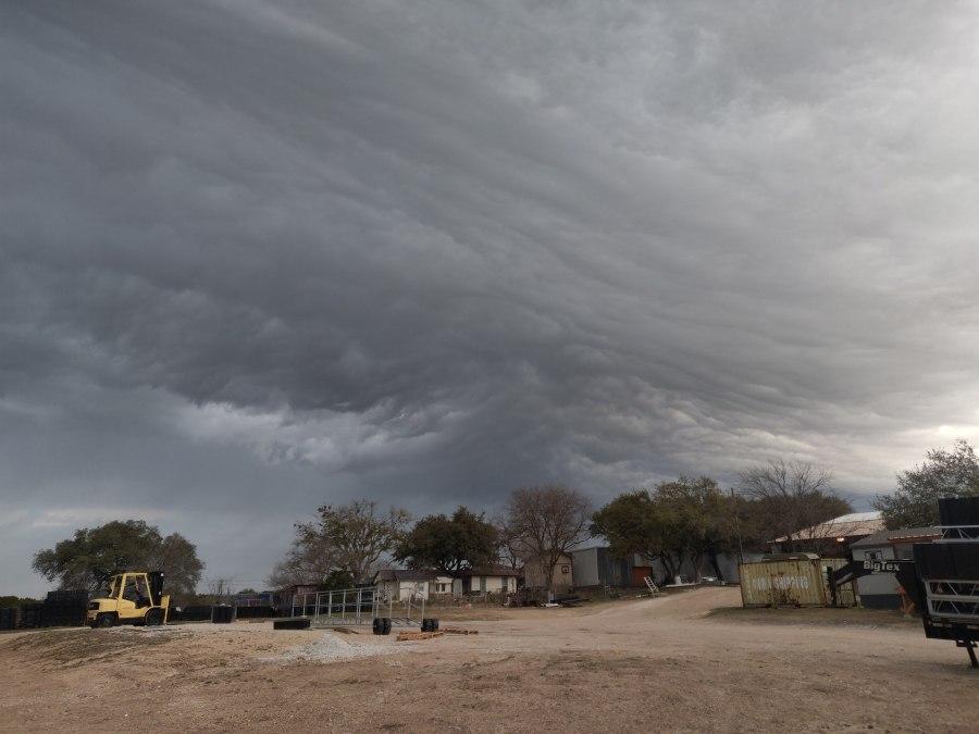A look at the storm clouds from Leander. (Courtesy Joaquin Villanueva)