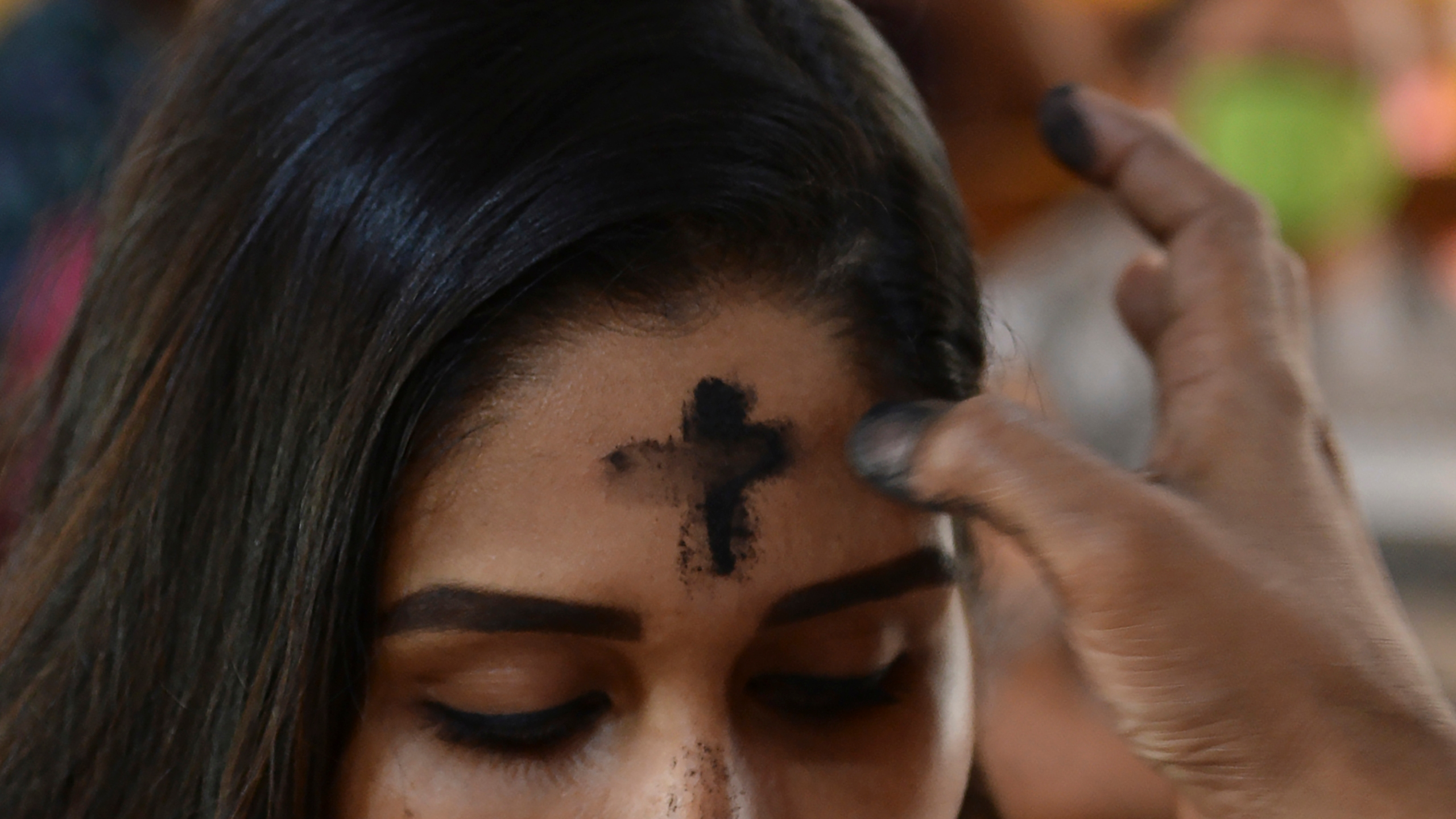 Ash Wednesday (Photo by Arun SANKAR / AFP) (Photo by ARUN SANKAR/AFP via Getty Images)