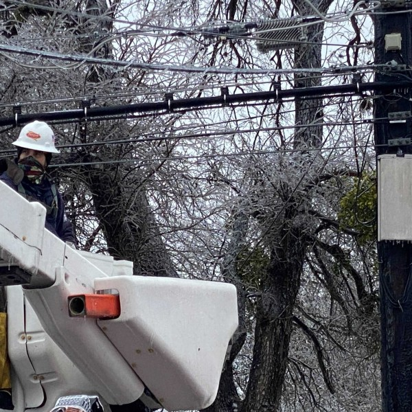 Austin Energy power crews restore power