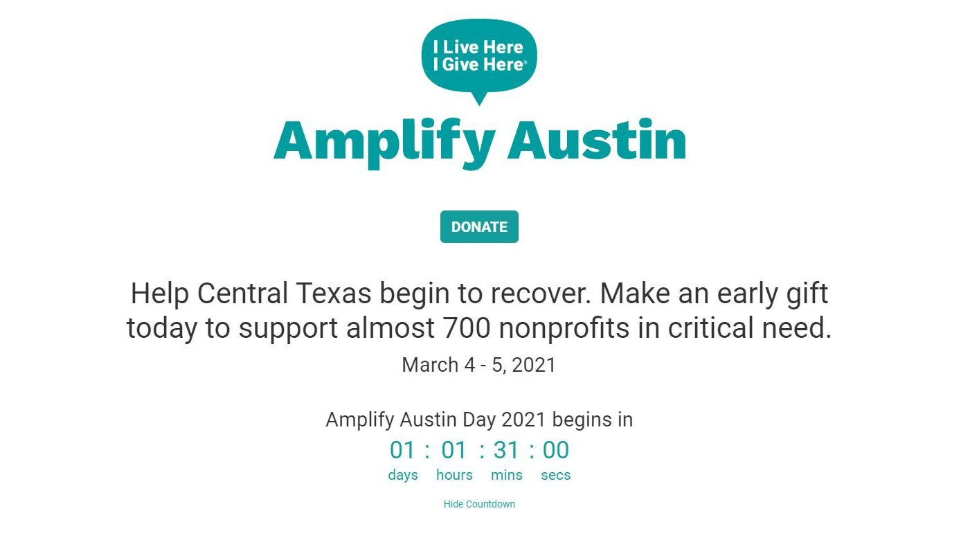 Amplify Austin Day 2021 website