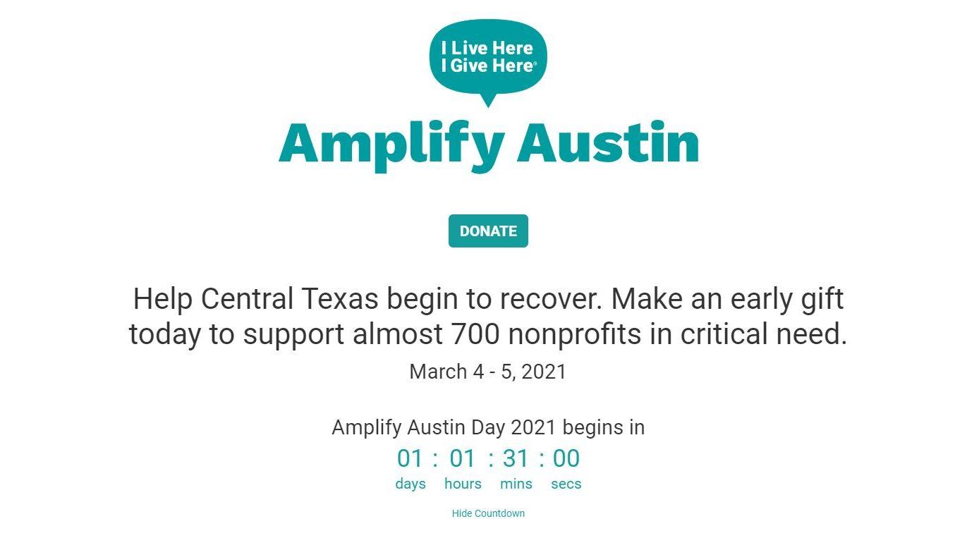 Amplify Austin Day 2021 website