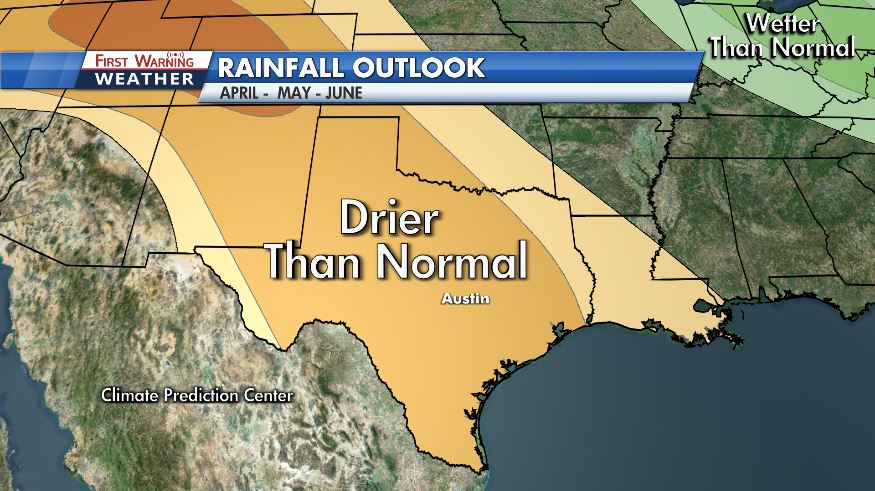 April, May and June are expected to be drier than normal (KXAN Photo)
