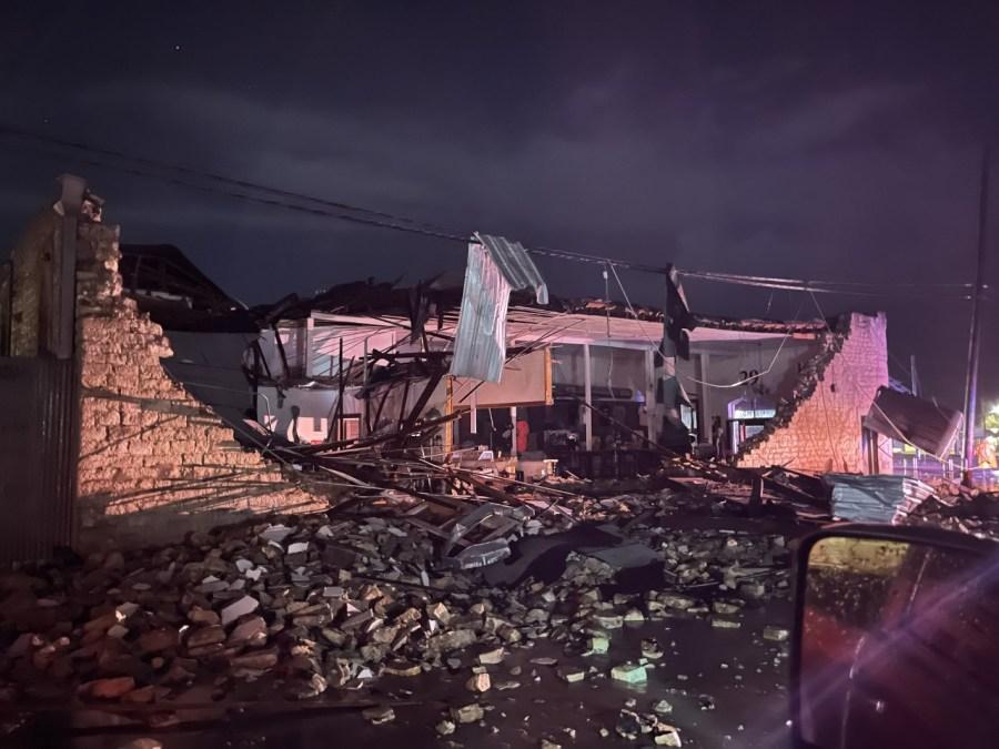 Bertram storm damage - Courtesy D Miller Powell