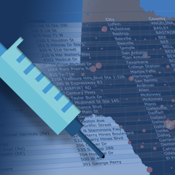 COVID-19 in Texas vaccine distribution list