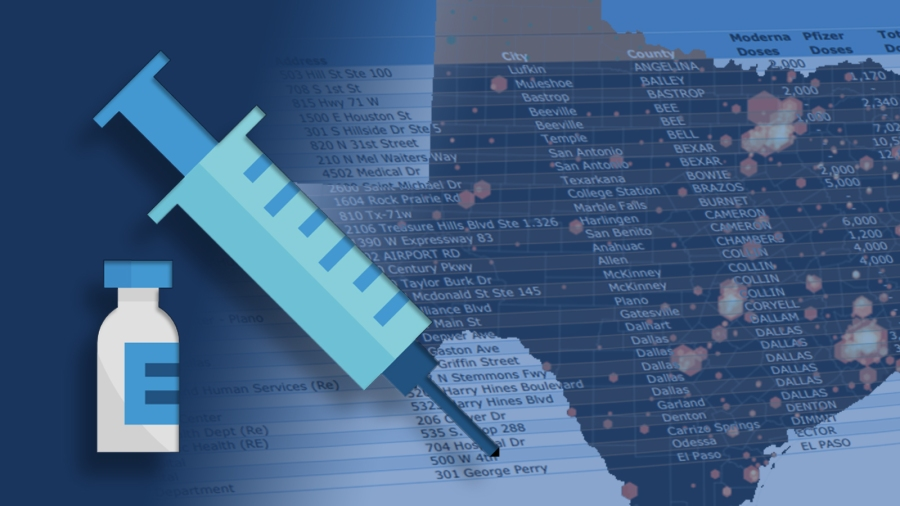 IN-DEPTH: Heat map showing which Texas cities are getting the most COVID-19 vaccine