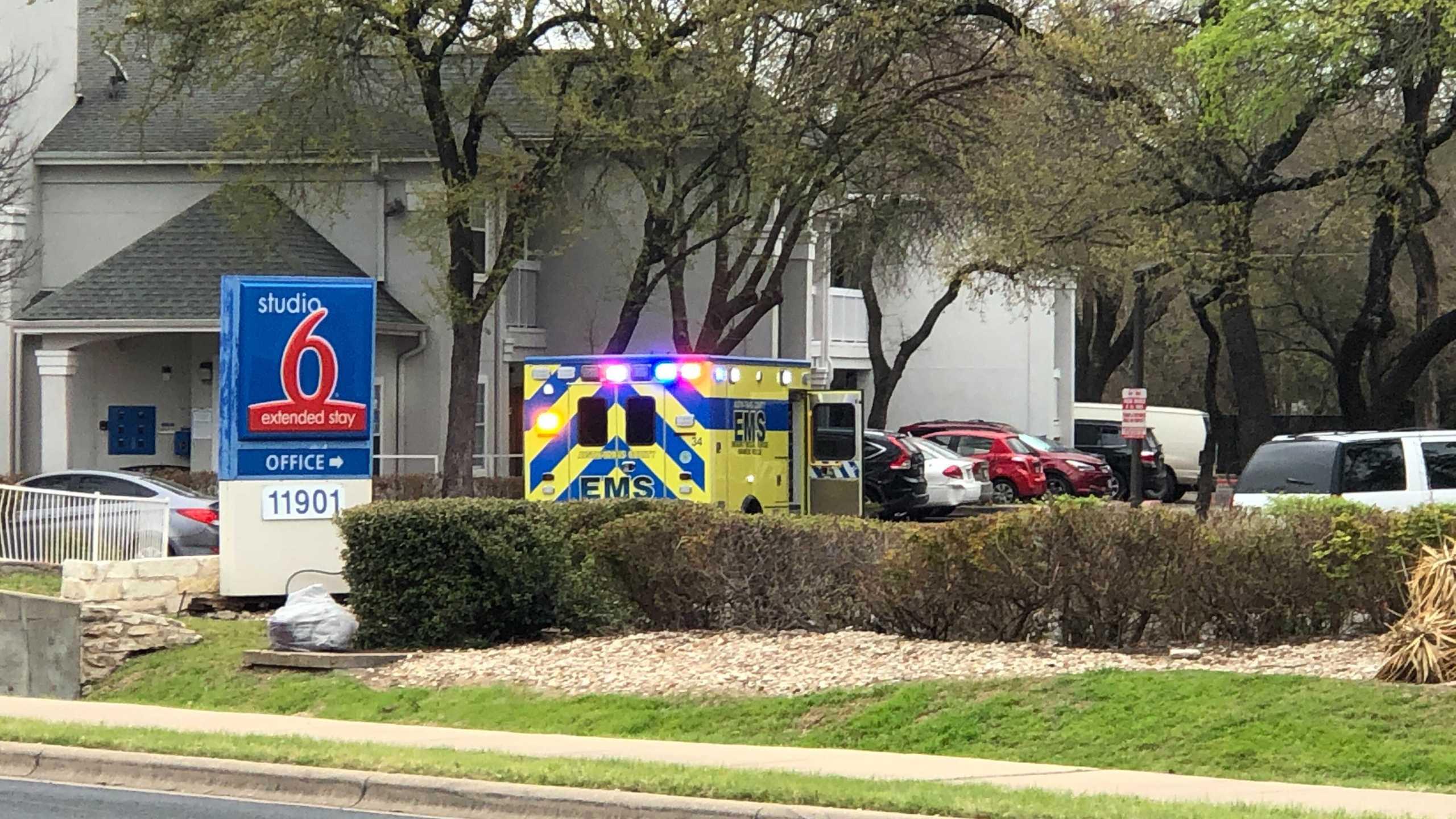 Scene of shooting in northwest Austin on Pavilion Boulevard March 22, 2021 (KXAN/Frank Martinez)