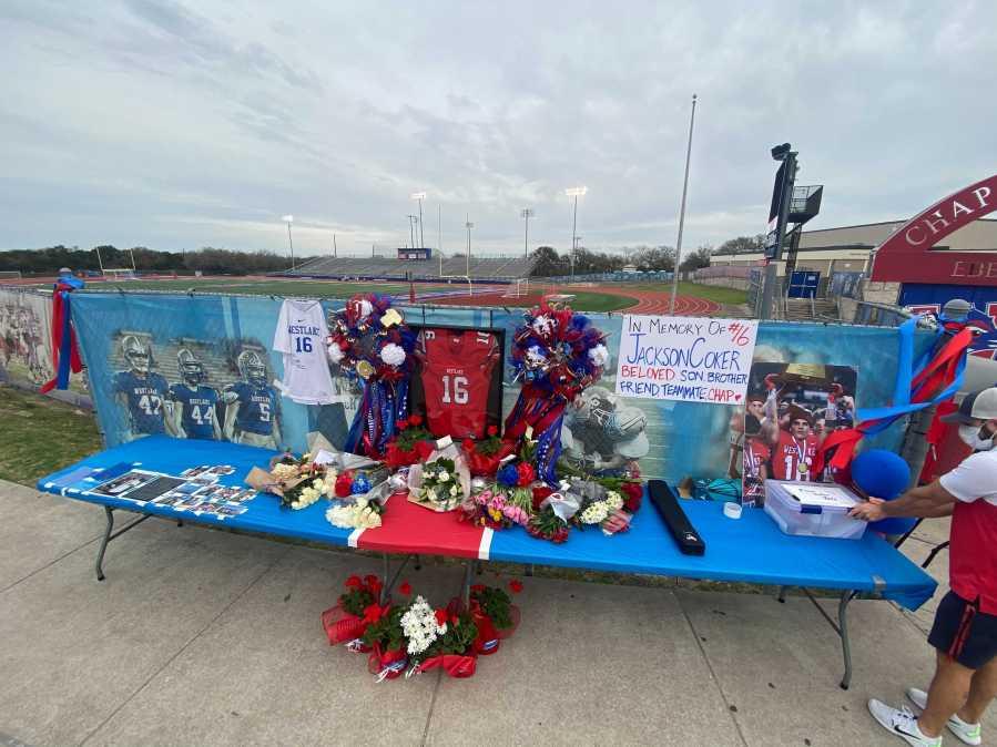 Westlake football Jackson Coker memorial