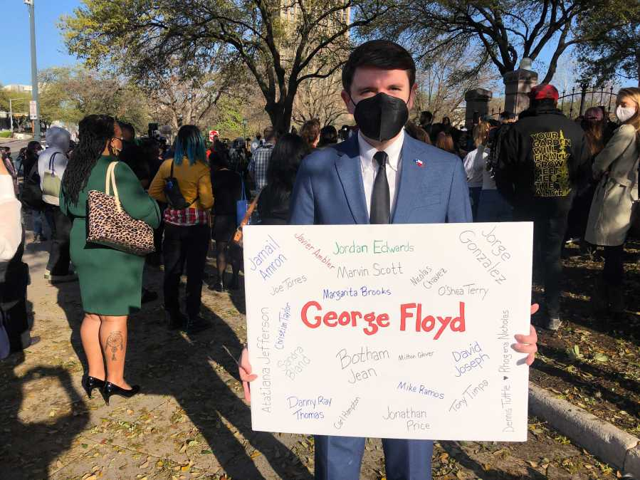 George Floyd Act rally