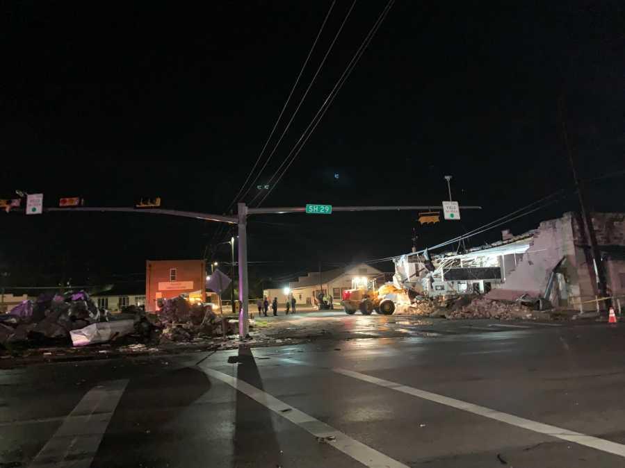 Storm damage along SH 29 in Bertram on March 22, 2021 (KXAN/Andrew Choat)