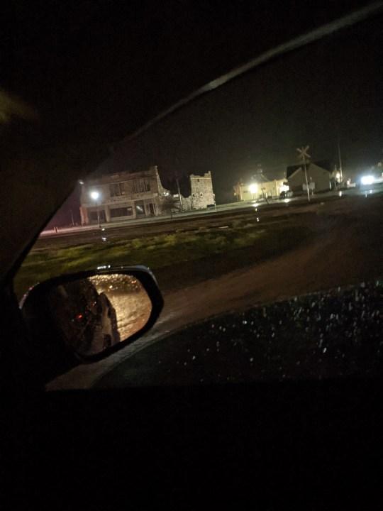 Storm damage in Bertram on March 22, 2021
