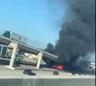 Fire at homeless camp on I-35 in south Austin destroys tents, damages bridge