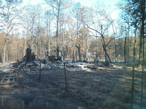 The 2011 Bastrop fire destroyed the Webb family's home (Courtesy Meagan Webb)