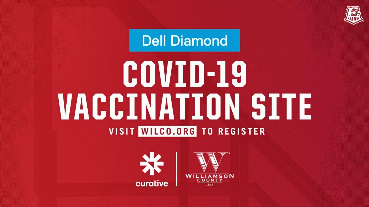 Dell Diamond is a COVID-19 vaccination site (Courtesy Williamson County)