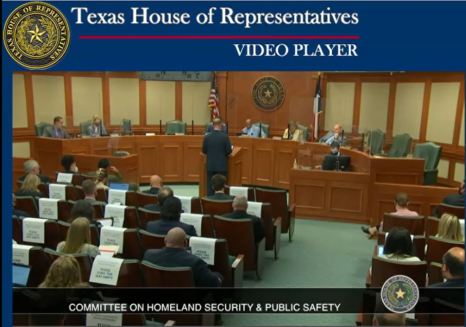Rep. John Cyrier presented House Bill 1550, a piece of legislation that calls for a 'Blue Ribbon Panel' to make recommendations on changes to TCOLE's authority. (Texas House of Representatives Photo)