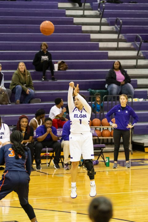 Alyssa Broderick was a guard on the Elgin basketball team and made All-District Honorable Mention her freshman year. (Courtesy Madison Koehler)