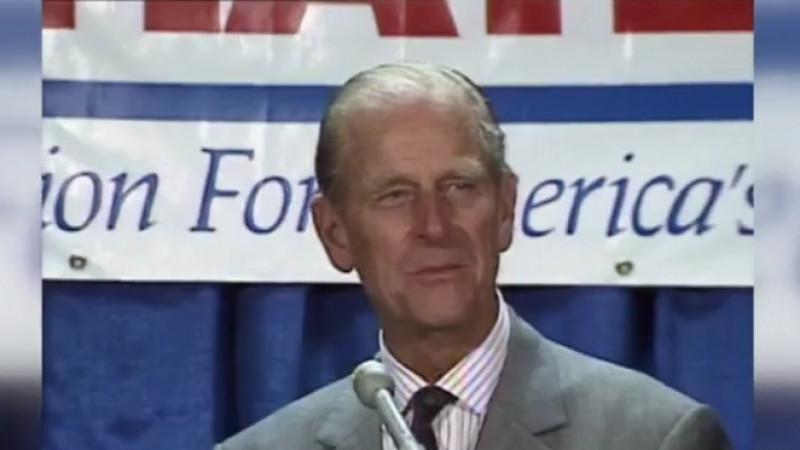 Prince Philip visits Austin, Texas in May 1991 (KXAN Archive Footage)