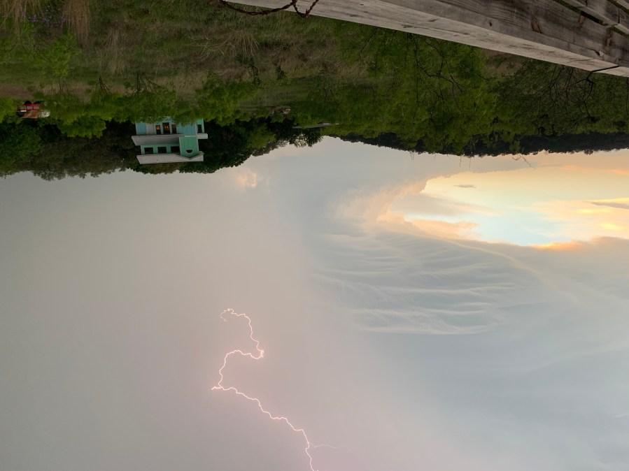 Lightning in Burnet, Texas on April 12, 2021 (Photo: Bill Hall)