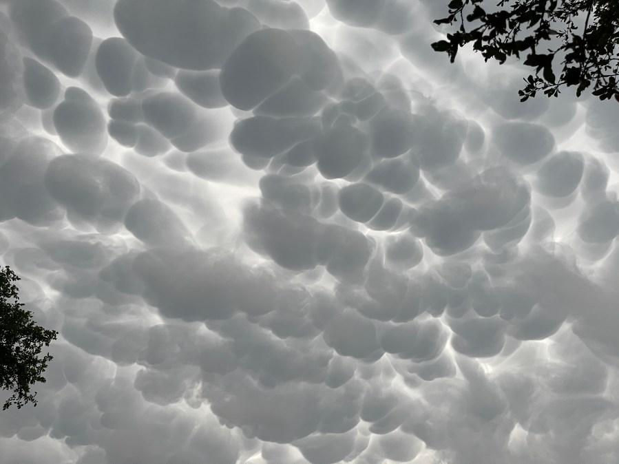 Mammatus clouds over Wimberley, Texas April 28, 2021 (Courtesy Cyndi Hazelwood)