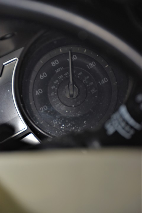 Crash scene photographs taken by Texas DPS investigators and obtained by KXAN under an open records request show the speedometer in Alan Dieguez's crashed Hyundai pegged at 100 miles an hour. (Texas Department of Public Safety Photo)