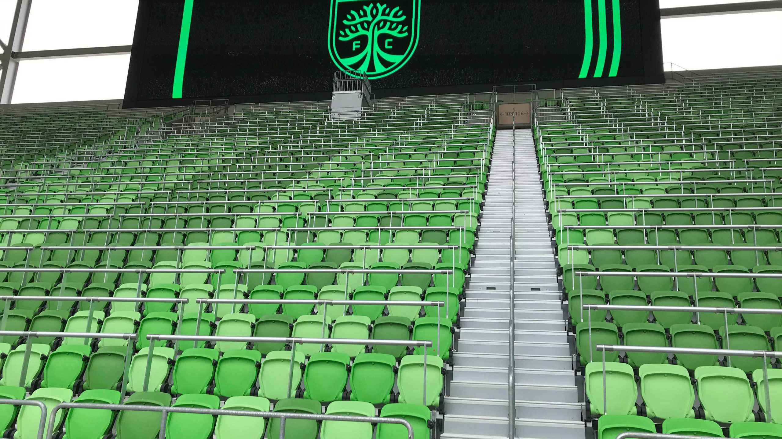 The main stand, where the most vocal supporters will enjoy the games (Picture: KXAN)