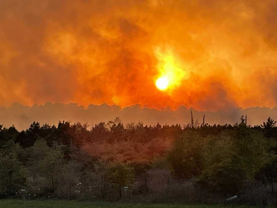 Bastrop County wildfire 4-10-21