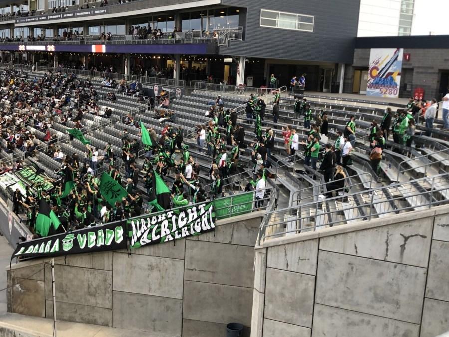 Austin FC fans in Colorado
