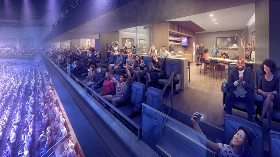 Renderings of the Moody Center