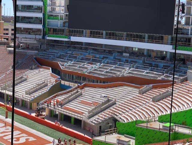 UT south end zone construction