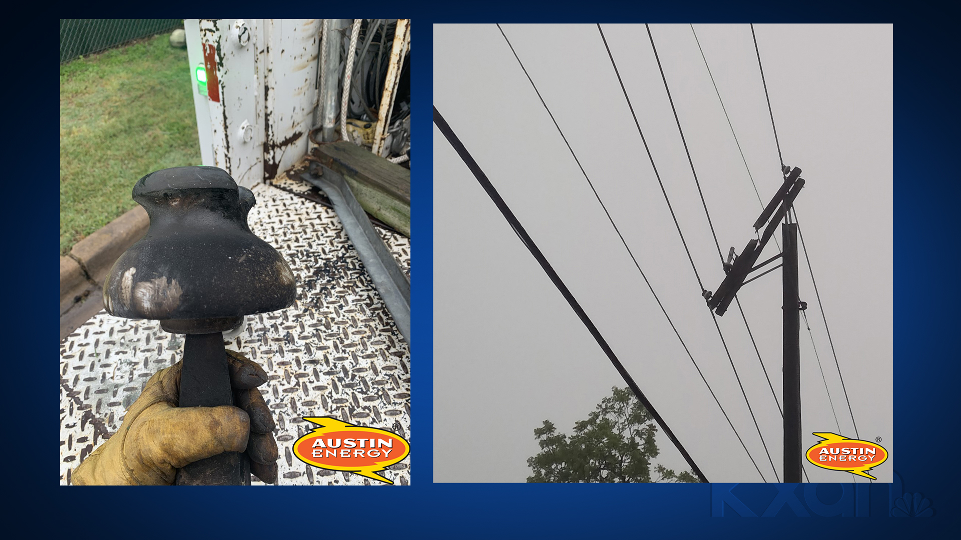 Austin Energy crews have been making repairs due to rain across the city today. (Austin Energy photos)