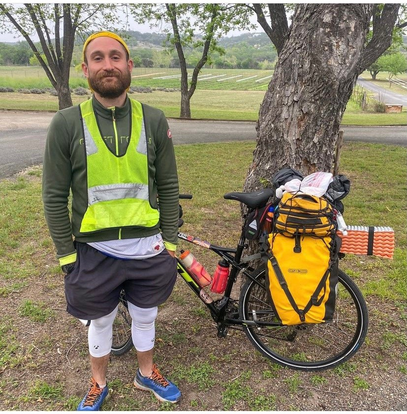 Man biking to New Orleans from Los Angeles signs up for Austin half marathon on a whim