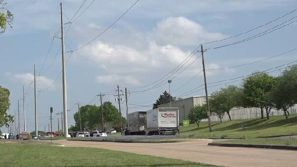 The shooting reportedly happened at the Kent Moore Cabinets store, located in the 500 block of Industrial Boulevard in Bryan. (KAGS)