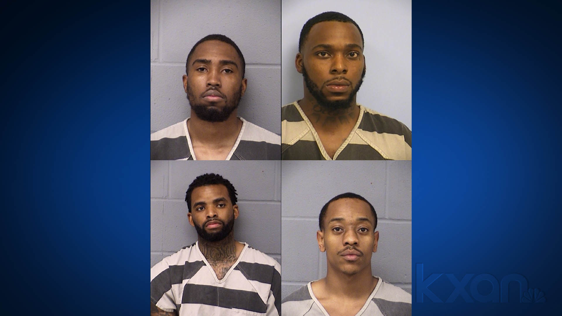 Top: Kieren Eric Dewayne McGowan, 22 (left), Michael Wayne Butler, 27 (right); Bottom: Sammie Ray Spencer, 24 (left), Tarell Deshawn Manson, 24 (right). Photos from Austin Police Department