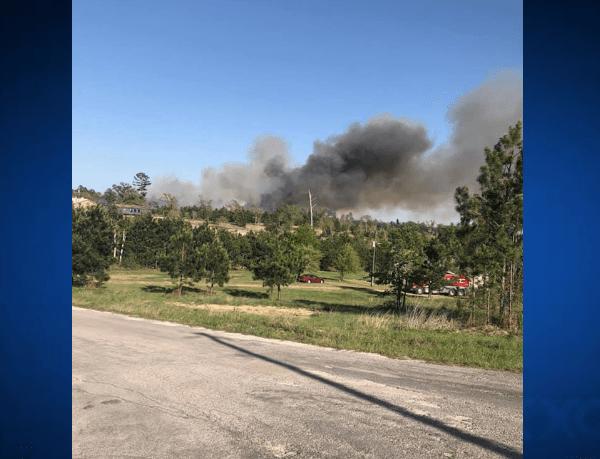Bastrop County fire near Cassel Way 4-10-21