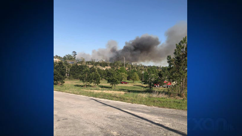 Bastrop County fire near Cassel Way 4-10-21