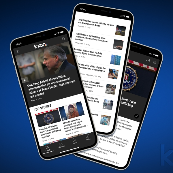 Simply update your app to experience the new and improved design of the KXAN News App (KXAN Photo)
