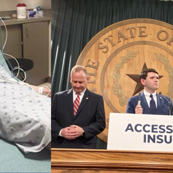 Rep. James Talarico shared he has diabetes, on the same day announcing a bill to cap insulin prices (Rep. James Talarico Office Photo and Nexstar Photo/Wes Rapaport)