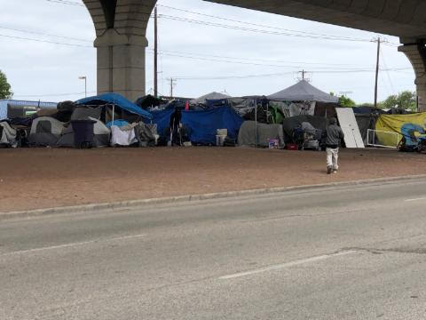Many Austinites have grown fed up with the growing number of visible tents in the city (KXAN Photo/Chris Nelson)
