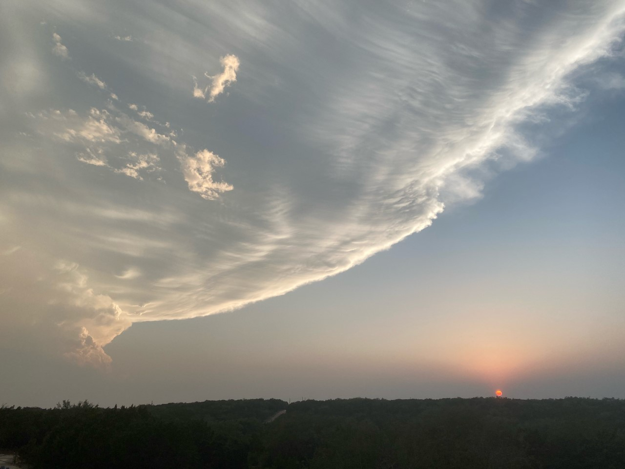Photo of sky and clouds on May 3, 2021 (Courtesy: Karen Raymond)