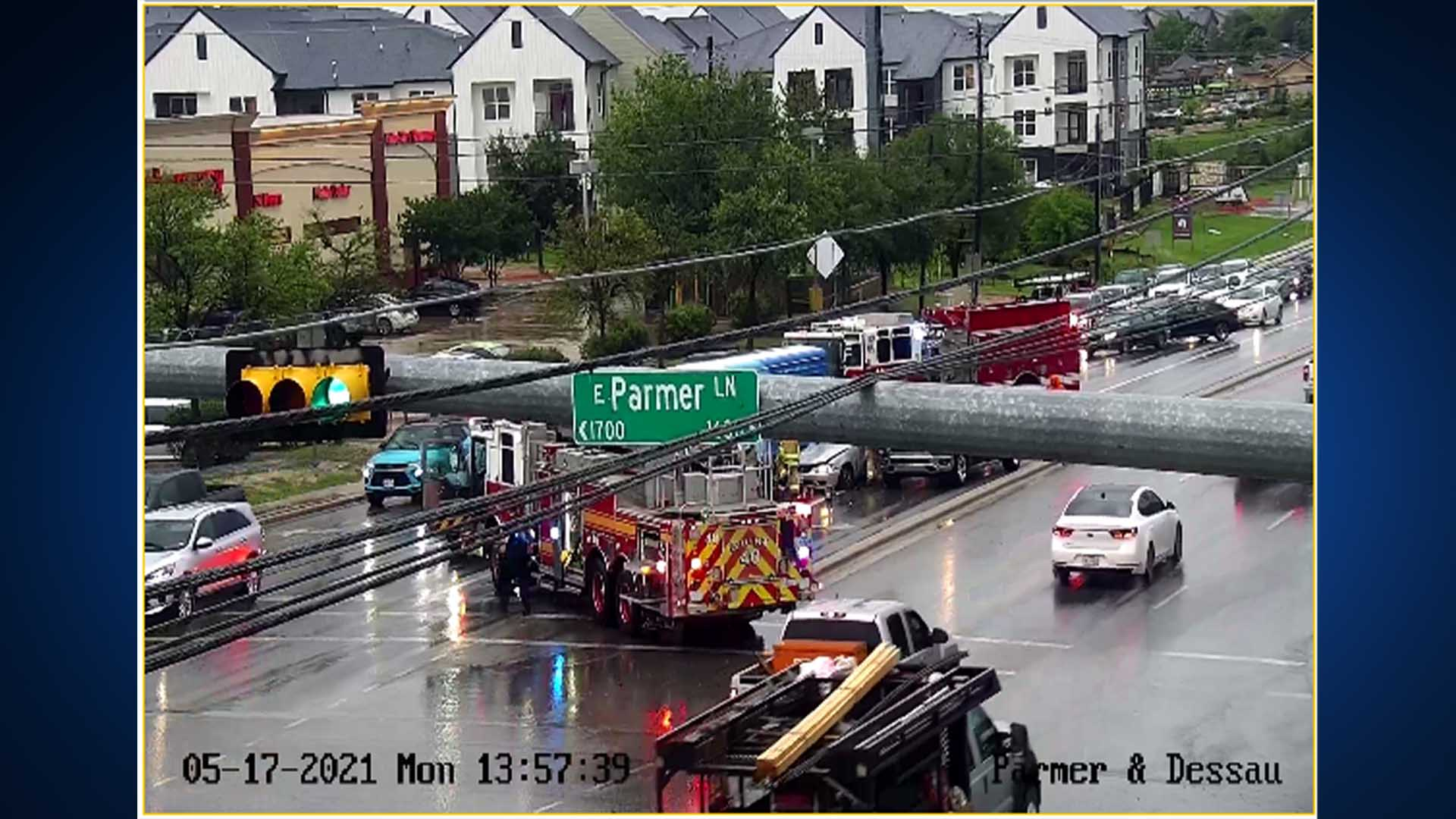 Crash at Dessau Road and East Parmer Lane blocks multiple lanes on May 17, 2021 (Photo: ATX Transportation via Twitter)