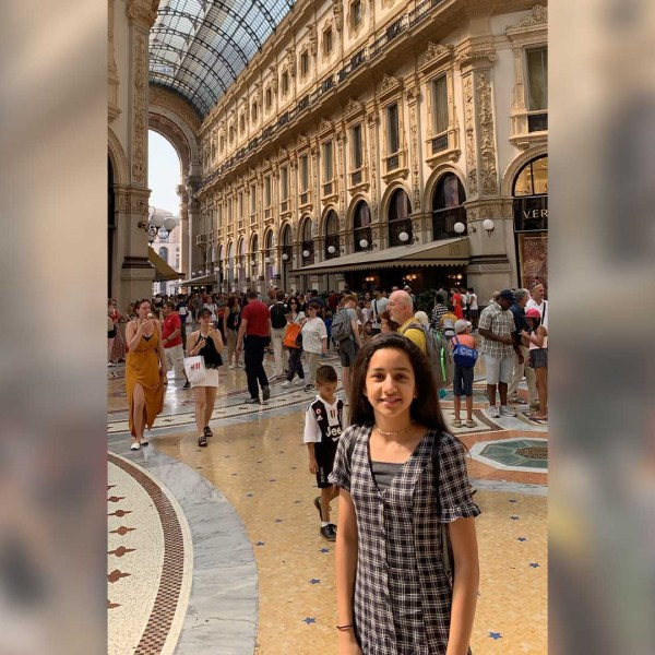 Sania Sultan, 14, is eager for the FDA to authorize Pfizer's COVID-19 vaccine for 12 to 15 year olds. She hopes to travel like she used to before the pandemic, pictured here. (Courtesy: Sabiha Rehman)