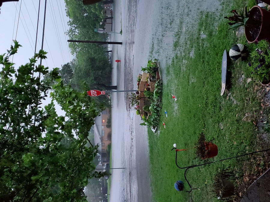 Flooding in La Grange, about one block south of Highway 77 (Courtesy of Kellie Kutchka)
