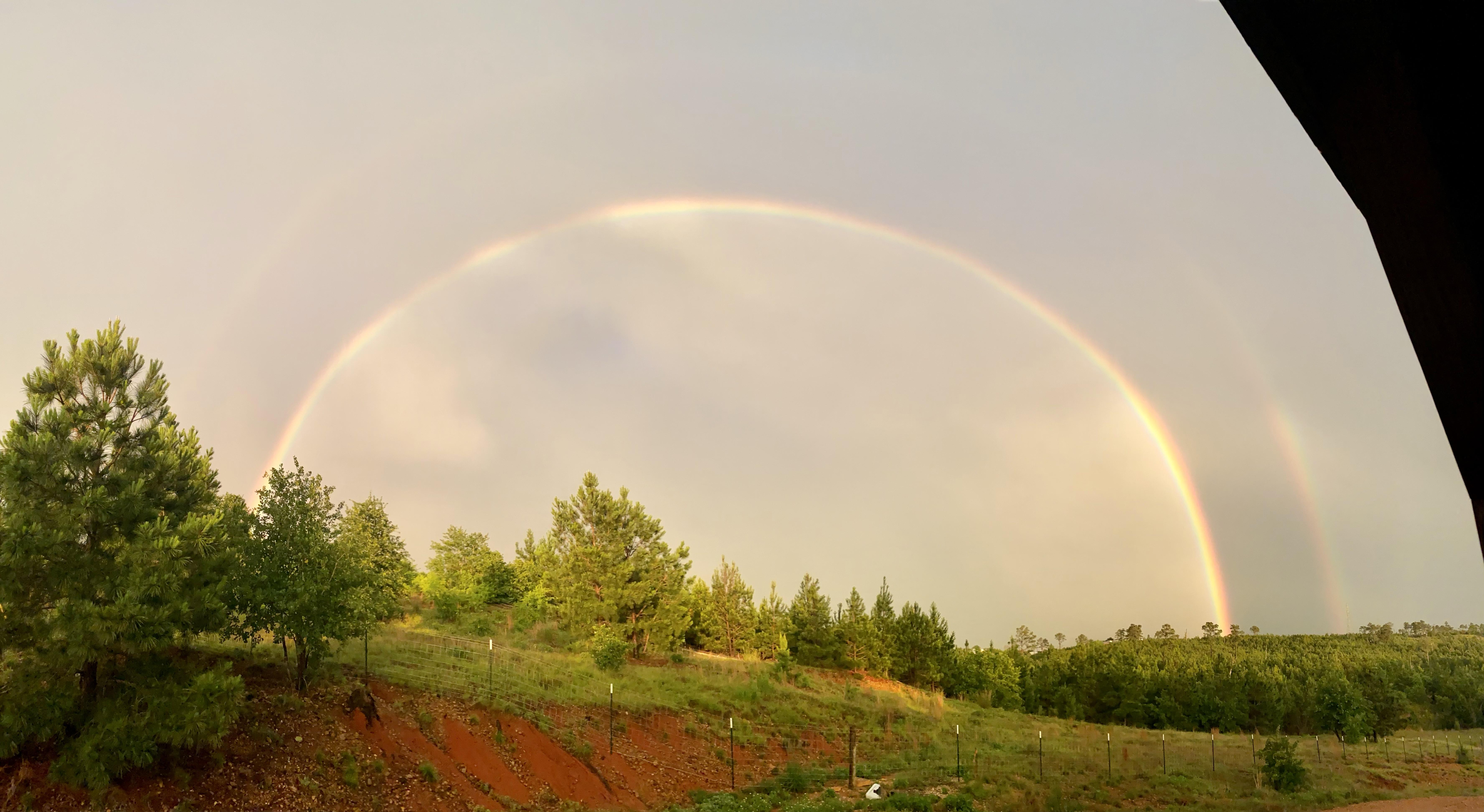 Double rainbow in Alum Creek (Courtesy Annabel Morris)