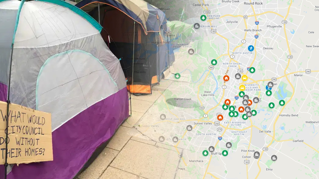 VIEW MAP: 45 potential city-owned Austin homeless camping sites