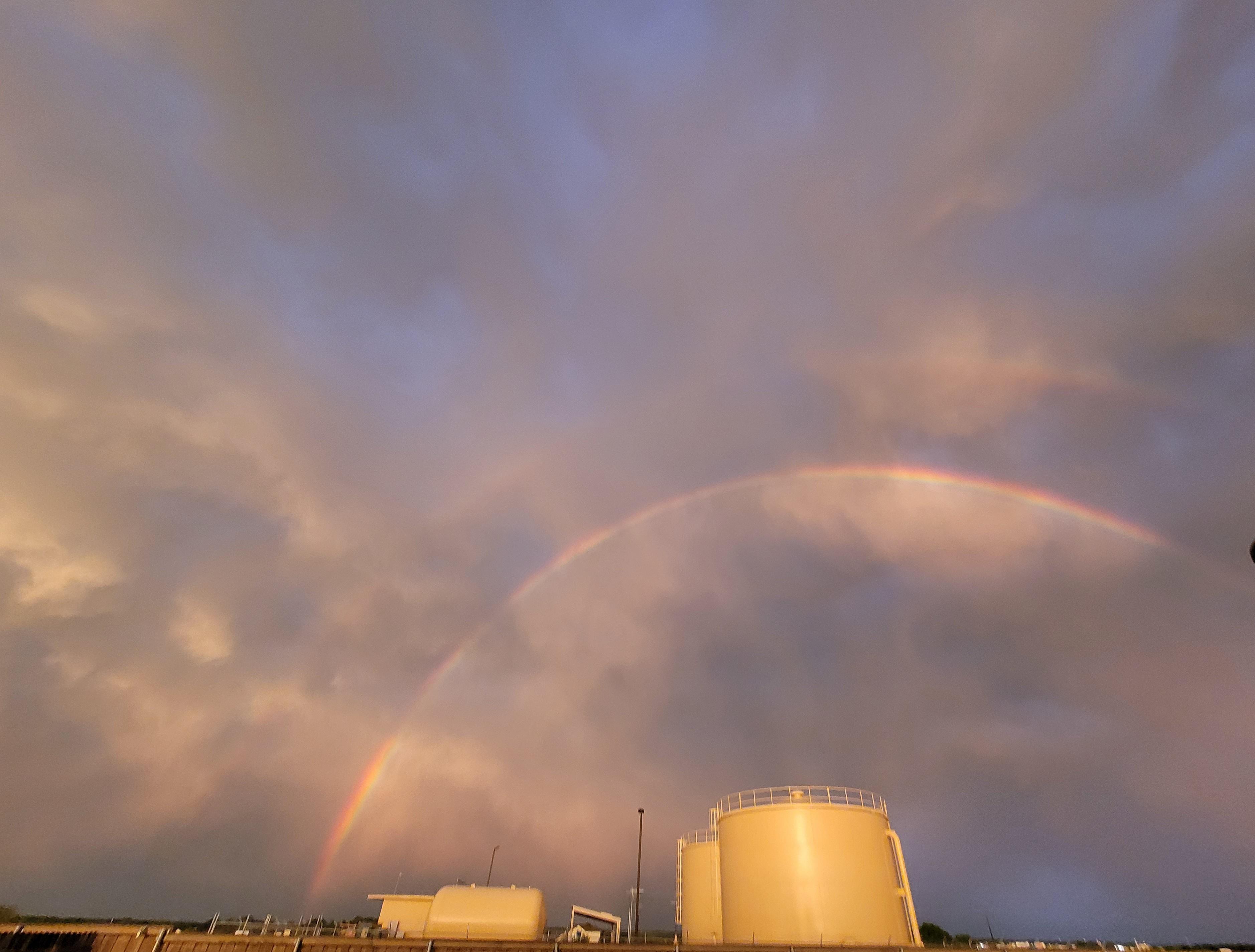 Rainbow in Bastrop, Texas (Courtesy of Brenda Baker)