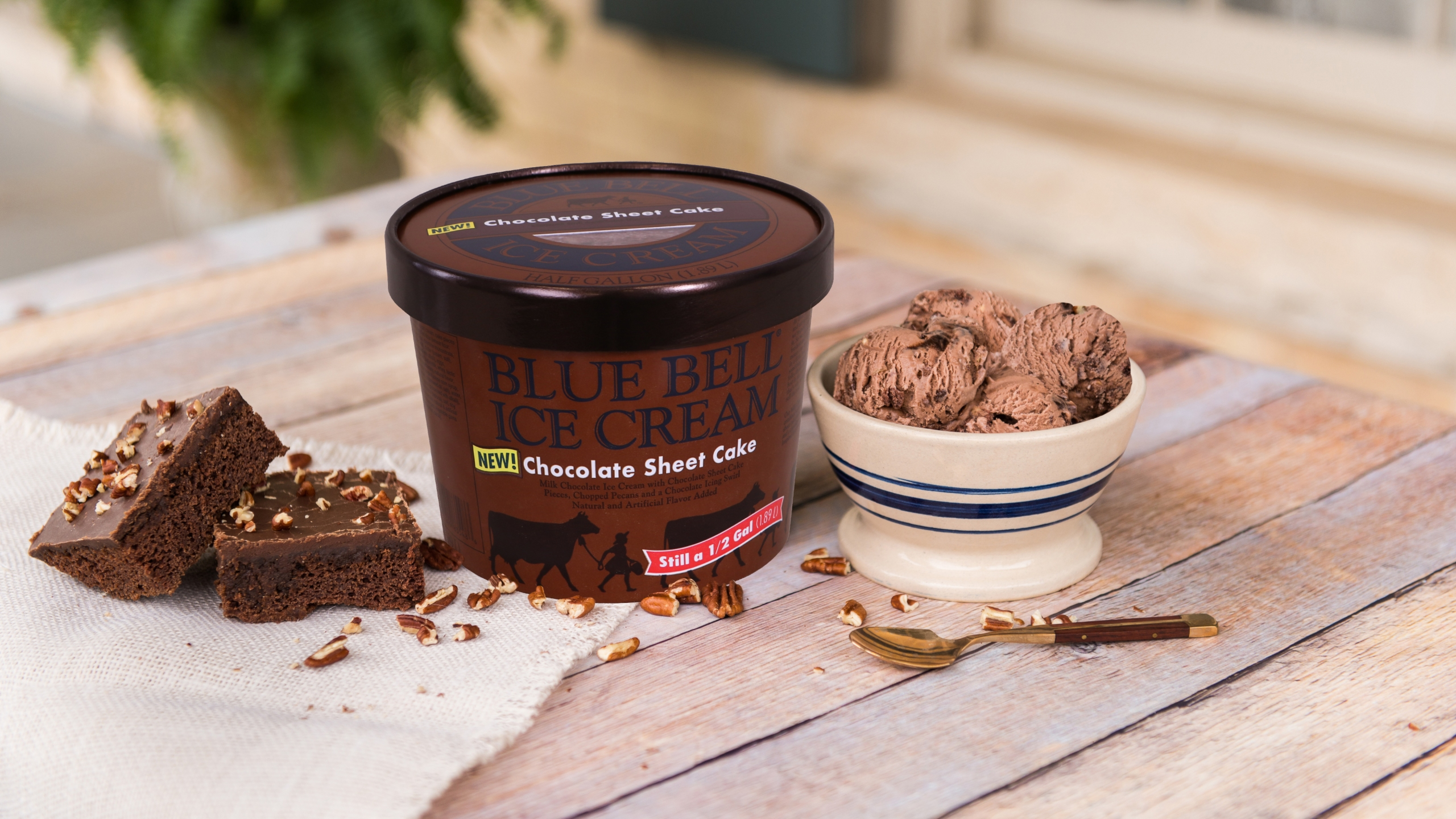 Chocolate Sheet Cake ice cream. (Photo courtesy Blue Bell Creameries, LP)