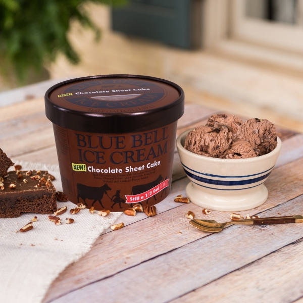 Chocolate Sheet Cake ice cream. (Courtesy Blue Bell Creameries, LP)