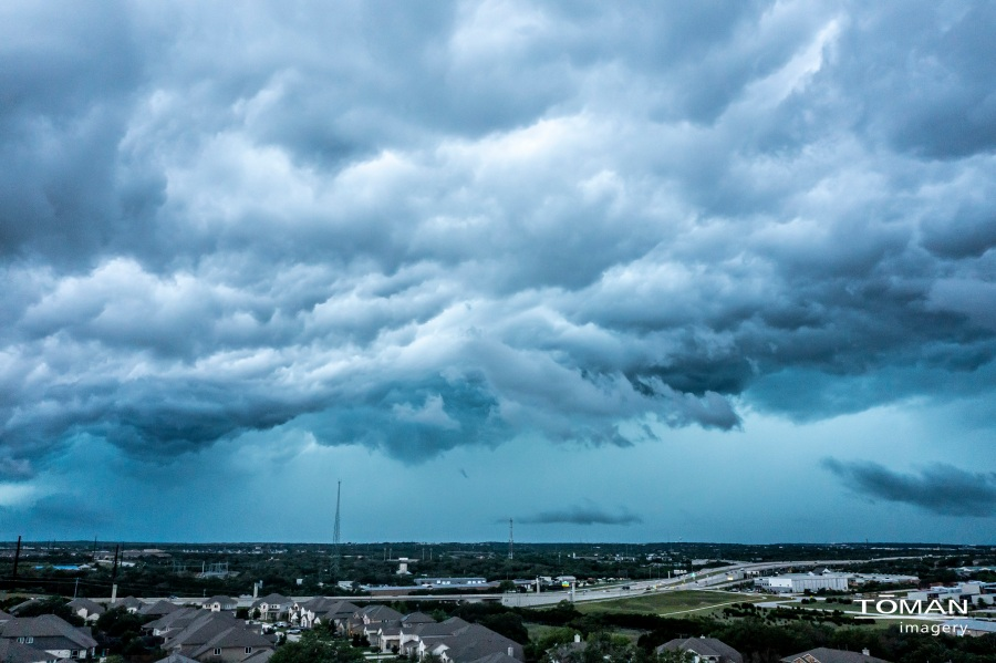 View of storm clouds from the Avery Ranch neighborhood in Austin May 17, 2021 (Courtesy: Myke Toman)